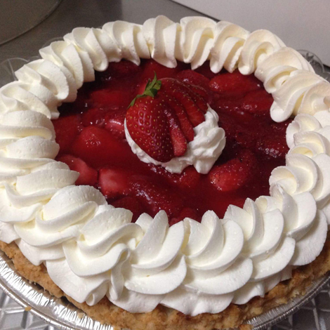 Ginger's Bakery Strawberry Pie on the Cajun Coast