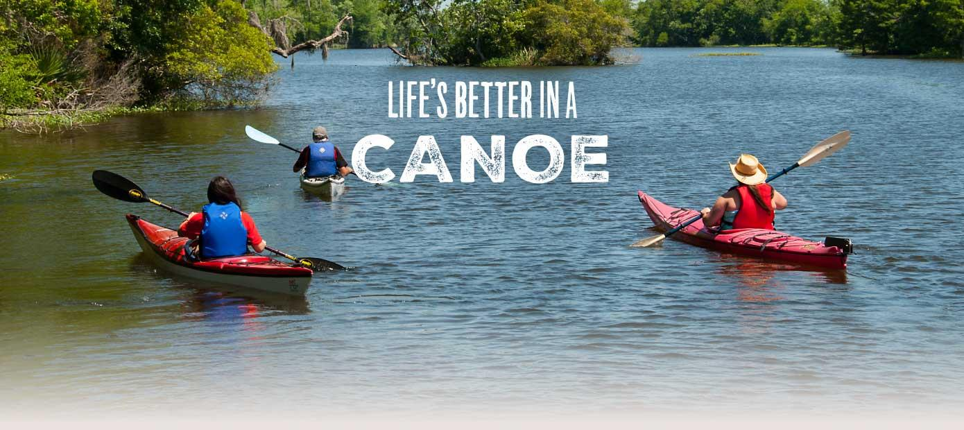 Louisiana's Cajun Coast - Life's better in our canoes.