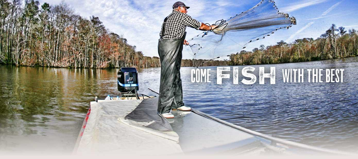 Louisiana's Cajun Coast - Come fish with the best.